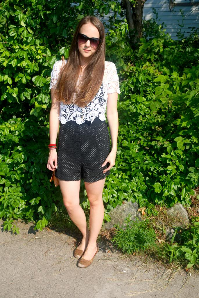 , polka dot, longhair, ombre, joe fresh sunglasses, sunnies, adorn by sarah lewis