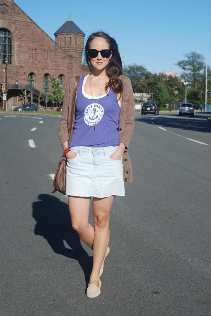 Pseudio, Purple tank top, anchors, summer