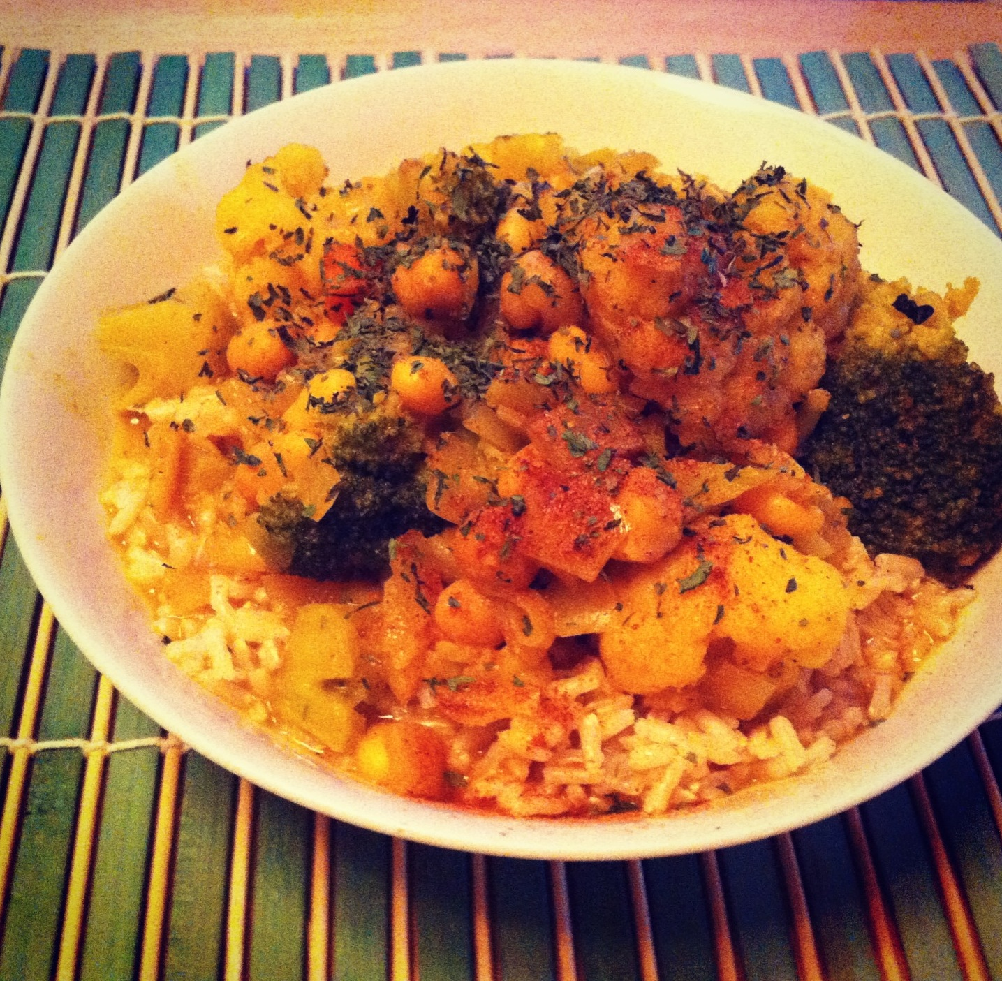 curry, chickpeas, vegan, gluten free,