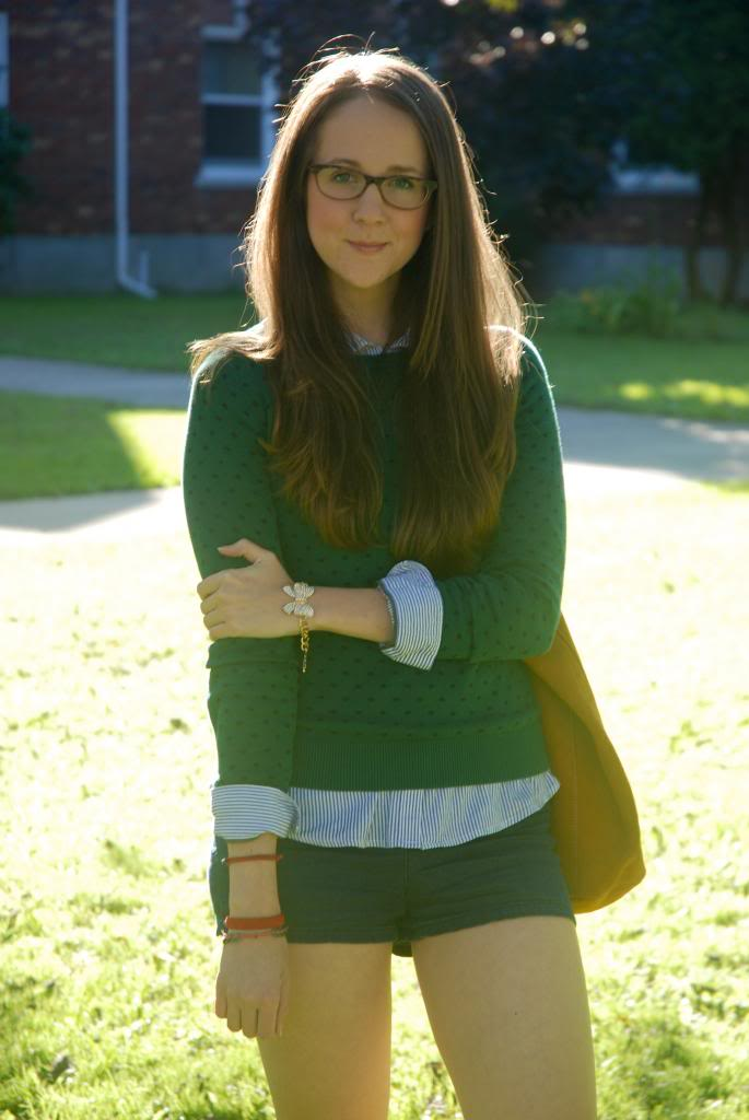 Fashion, Fall, layering, gold bracelets, hunter green, green