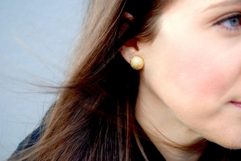 Gold, Glitter, Earrings, Winter Fashion