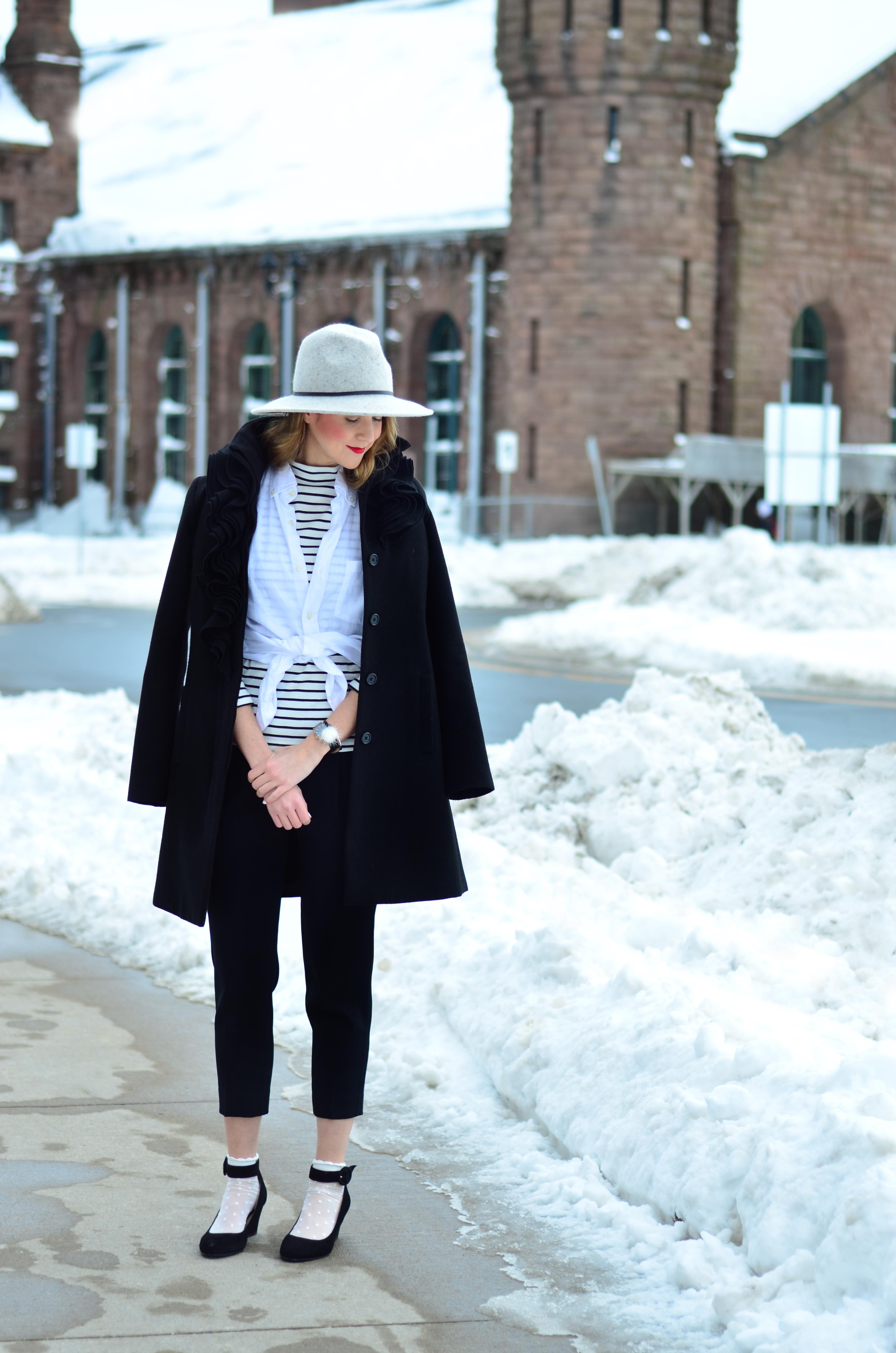 Mens button down, Trouser Socks, Spring Trends 2017, Fishnets, Halifax Blogger, Style Blogger, Full Time Fashion Blogger, East Coast Blogs, Best Blogger