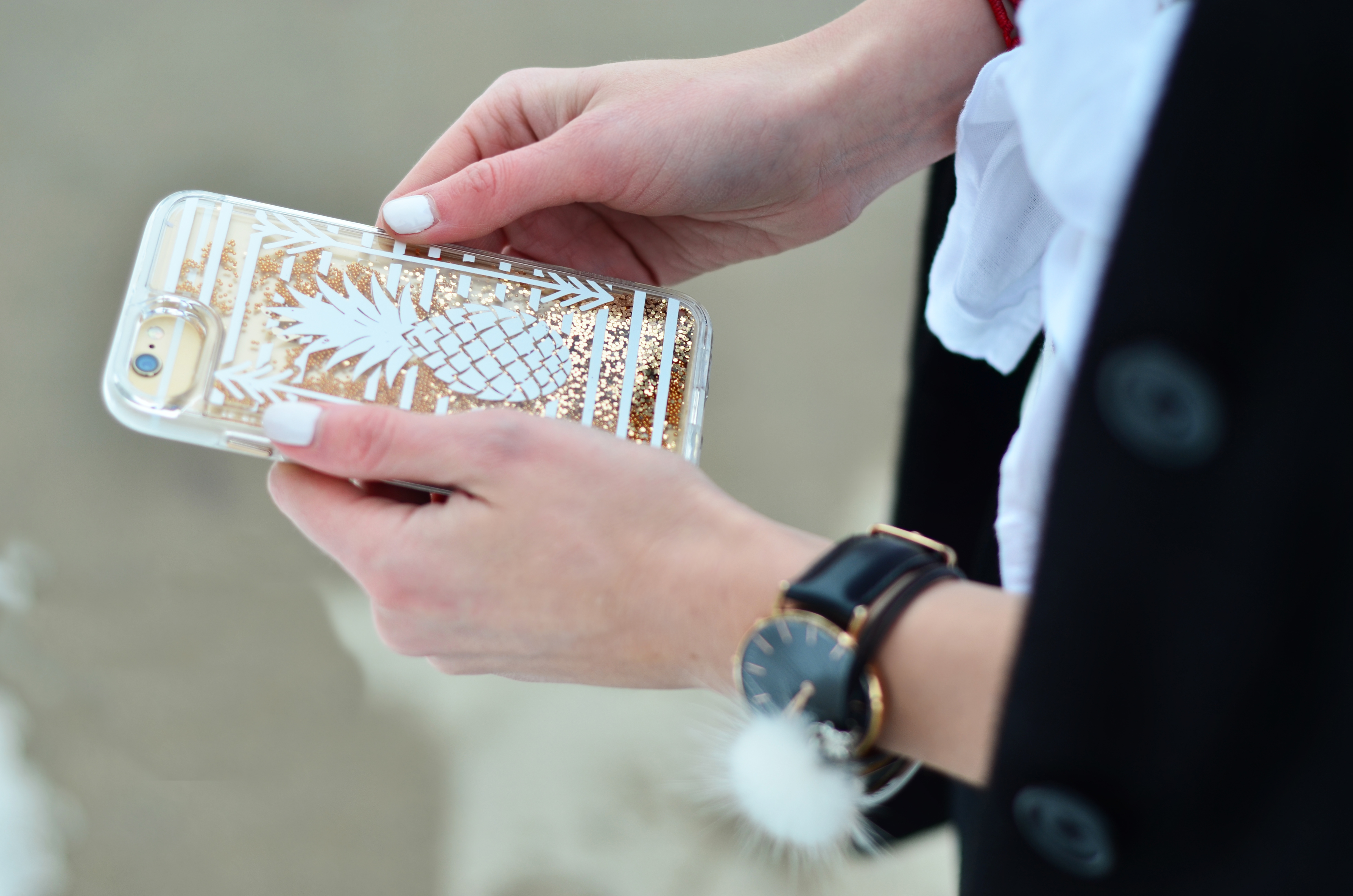 Glitter Phone Case, Liquid Glitter Case, Casetify, Daniel Wellington