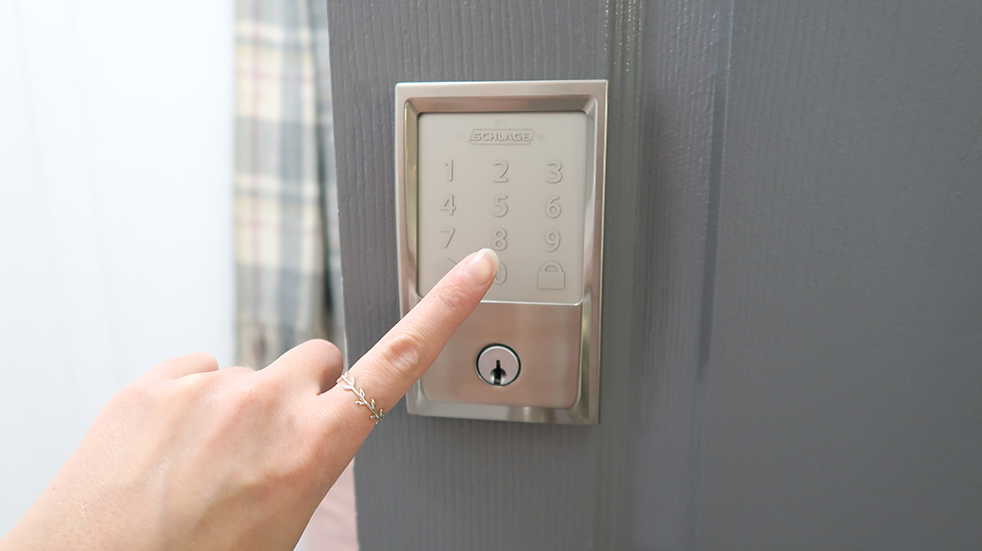 Touch key pad lock